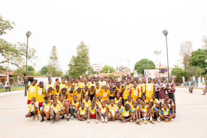 Most of the kids that participated in the workshop on Hinche.