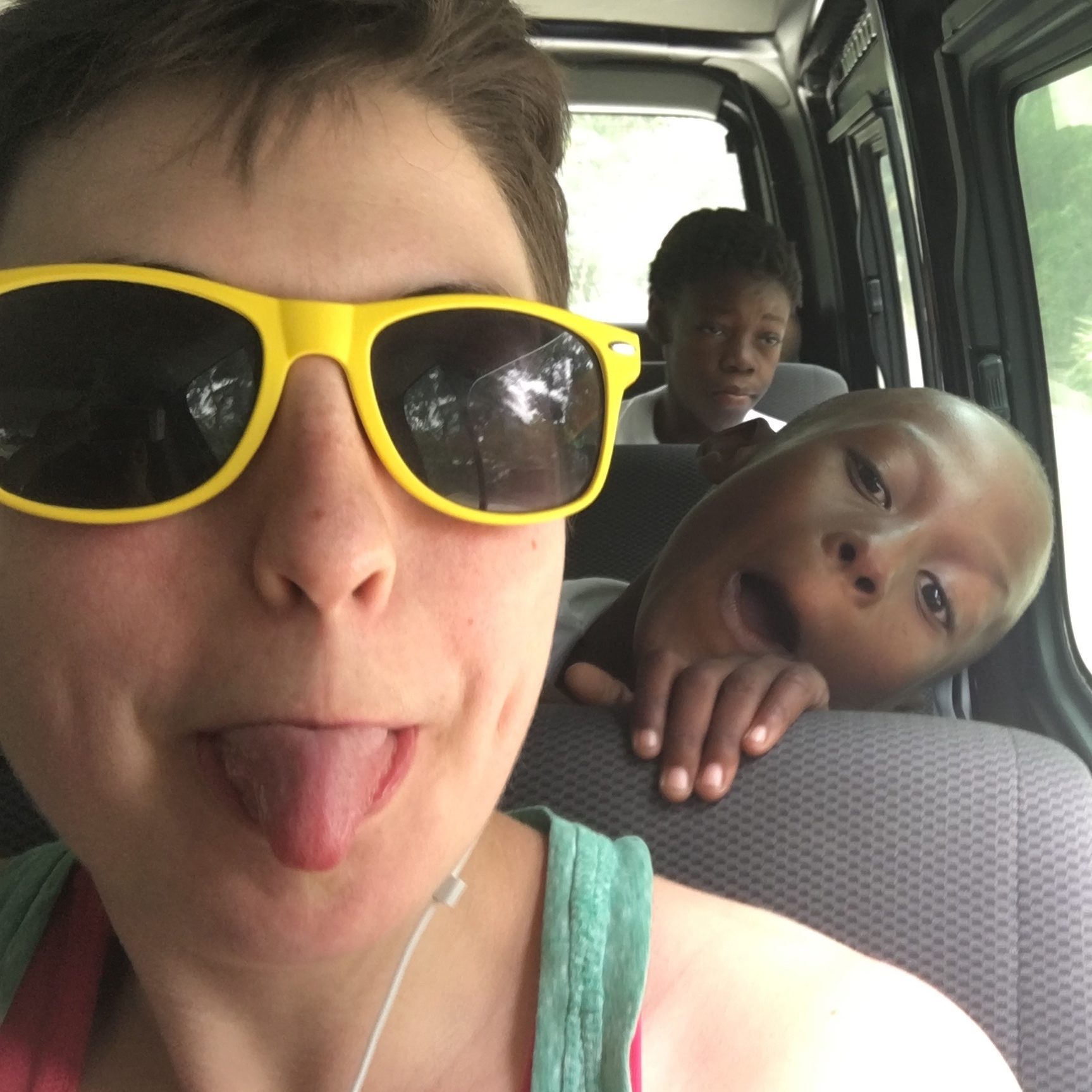 On the 8 hour van ride from Port au Prince to the first historical tour of the Citadelle in 2017. Filled with lots of singing and silliness.