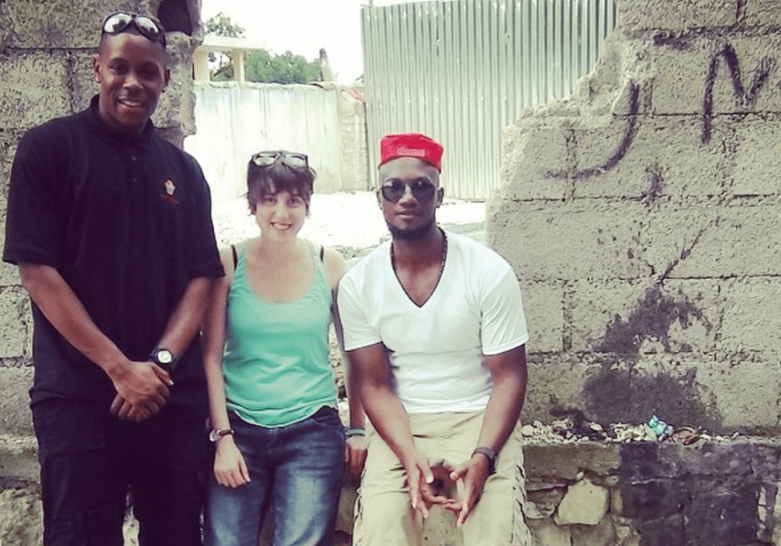 Our small team in Port au Prince in May 2014 on the first annual Clean Hands for Haiti trip. From left to right, co-founder Andre Murray, photographer Lexi Namer, and founder Ray Abellard.